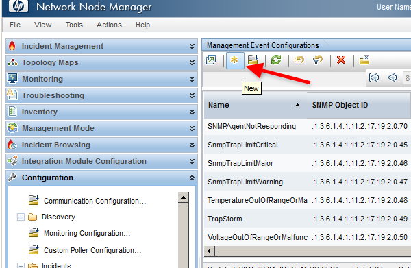 Configure SMS alerts for HP Network Node Manager